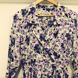 Bright purple floral dress