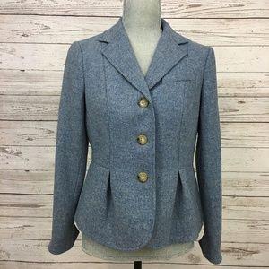 Talbots Blue Wool Blazer