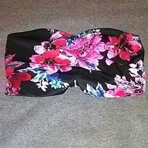 Floral Dressy Tube Top (Charlotte Russe)