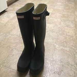 Hunter boots with boot socks