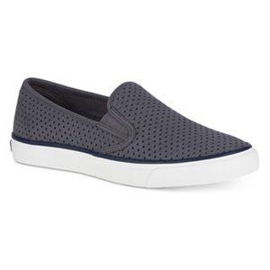 Women's Grey Sperry sneakers. Seaside Scale size 7