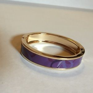 Gold and Purple Bangle