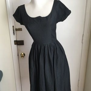 Vintage Junior Circle Polka Dot Dress-XS