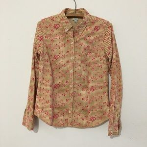 Anthropologie Odille Floral Button Down Shirt