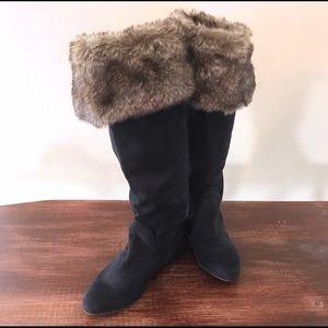 Fur boots!
