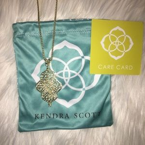 Kendra Scott Kathy Adjustable Necklace Gold Pavé