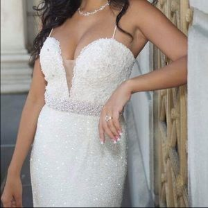 Sherri Hill White Prom Wedding size 4