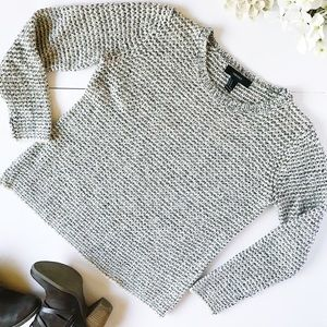Forever 21 Gray and Black marled Sweater