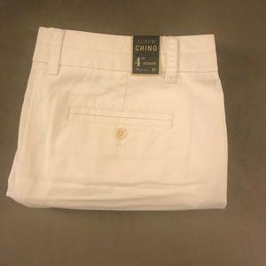 """J. Crew White Chine Shorts 4"""""""