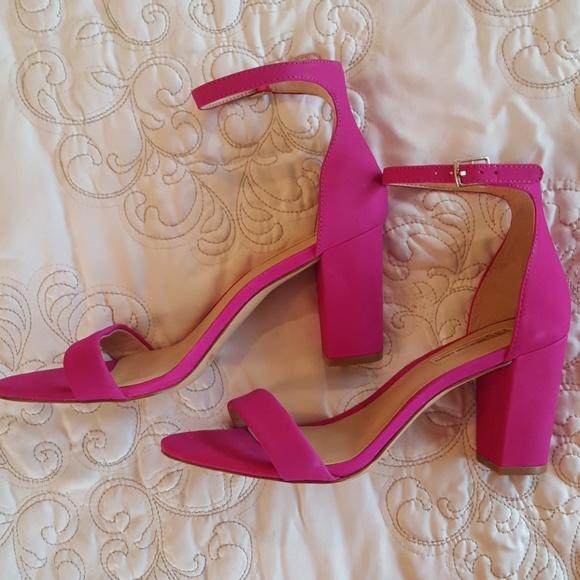 dark pink heeled sandals