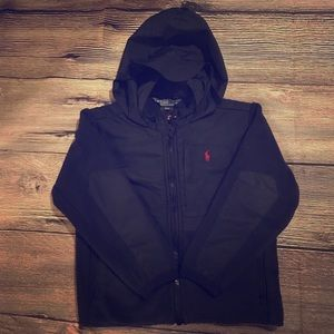 Ralph Lauren navy fleece zip up Sz 4T