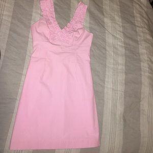 Lilly Pulitzer Size 6 pink/white seersucker dress