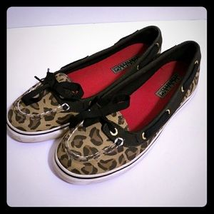 Leopard Sperry Top Siders size 6