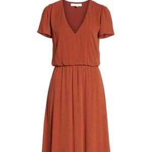 NWT WAYF Blouson Midi Dress, large, Nordstrom