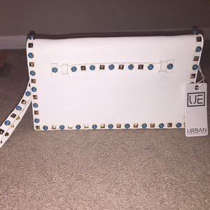 NEW WITH TAGS white(just off white) clutch