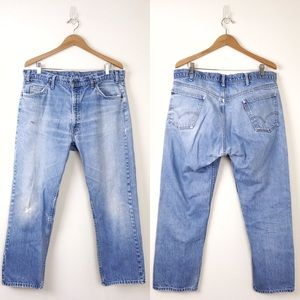 VTG LEVIS Orange Tab Jeans Faded Distress 38 x 29