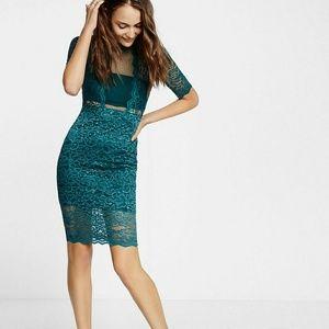 Express Green Lace Dress