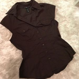 Brown H&M Button Down Shirt
