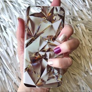 iPhone 6/6s Diamond Cuts Soft TPU IMD Case + Glass