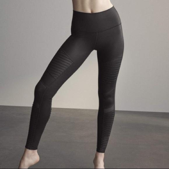 90a2c9a1754bb1 ALO Yoga Pants | New High Waist Moto Leggings Black Gloss | Poshmark