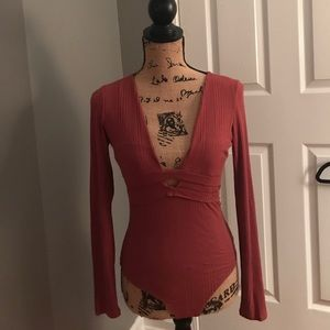 Charlotte Russe Long Sleeve Body Suit