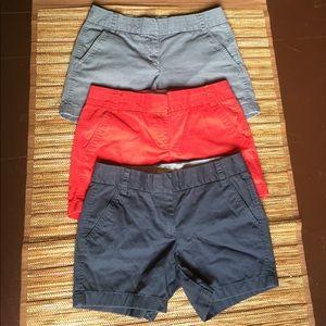 Lot of 3 JCREW Chino Shorts Bundle Sz 2