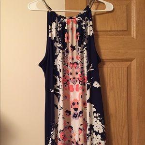 NWT Alfani Woman's Sleeveless Floral Dress 2XL