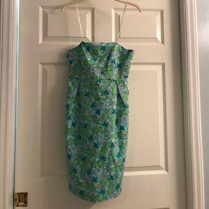Lilly Pulitzer strapless dress/Alberta Gator print
