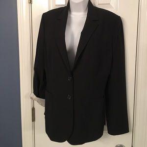 The Limited Black Pinstriped Blazer Sz 12