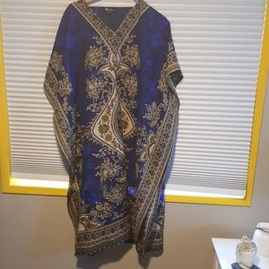 Dresses & Skirts - Gold and Blue Indian oversized dress or coverup