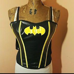 Batman lace up Corset with cape