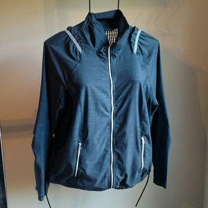 Lululemon Zip Front Gray Stretchy Jacket