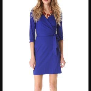 Diane Von Furstenberg Julian Royal Blue Wrap Dress