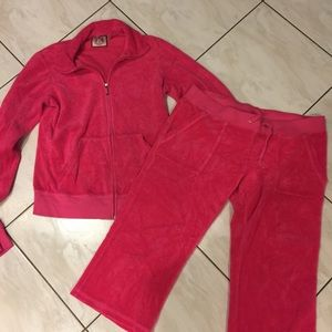 Juicy Couture Terry Tracksuit Set with Crop Pants
