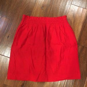 Red J.Crew skirt