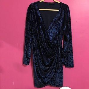 Dresses & Skirts - Blue Velvet Wrap Dress