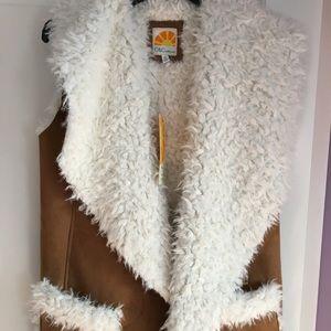 C & C California faux fur vest - NWT!!