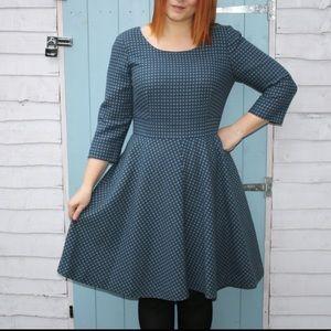 Boden Kate Polka Dot 3/4 Sleeve Dress