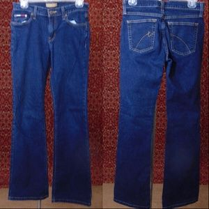 TOMMY HIFIGER dark blue denim boot cut jeans 5R