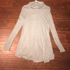 Gray long sleeve fall dress