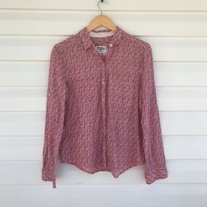 {Anthropologie} Holding Horses Floral Button Down