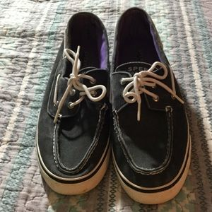 Speedy Top-Sider Biscayne Canvas Tie Boat Shoes
