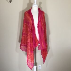 Large Charming Charlie Pink and Orange Scarf