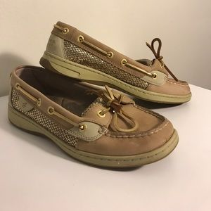 Sperry Top-Sider with gold sparkles