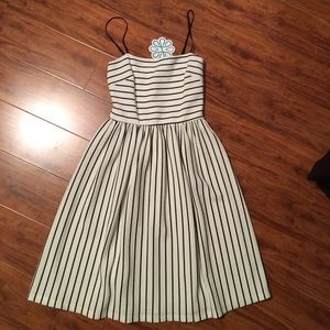 NWT Black & White Fit Flare Dress Size Small