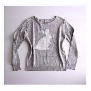 Knitz for Love & Lemons Grey Bunny Sweater M