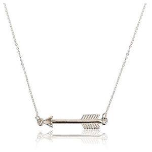New! Sideways Arrow Necklace tiny necklace