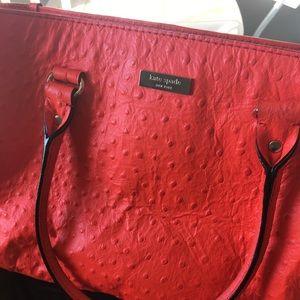 Kate Spade Wellesley: Coral Ostrich Handbag