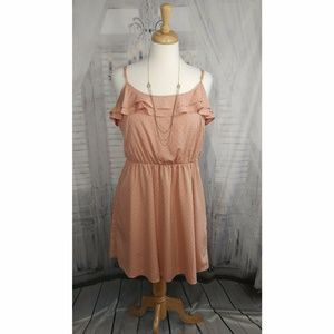 LC Lauren Conrad Blush Ruffle Dress