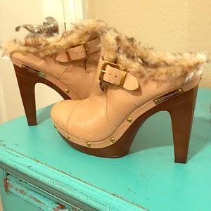 BCBGeneration Fur Lined Heels